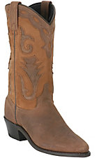 Sage® Ladies Brown Distressed w/ Nubuck Accents Western Boots
