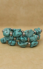 Cindy Smith Co® Turquoise Stone & Hematite Bead Bracelet Set SB4022