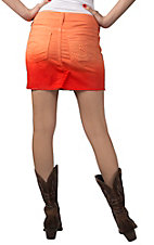 Silver Jeans® Women's Francy Orange Ombre Mid Rise Denim Skirt