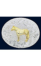 Silver Strike® Oval Children's Horse Buckle