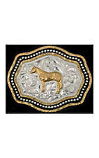 Silver Strike® Kids Two Tone Horse Buckle