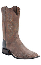 Tony Lama® Men's Antique Tan Tri-Tone Lizard Exotic Square Toe Western Boots