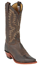 Tony Lama® Ladies Chocolate El Paso Goat Snip Toe Western Boots