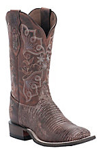 Tony Lama® Ladies Sienna Tri-Tone Lizard Double Welt Wide Square Toe Boots