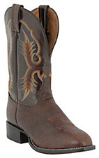 Tony Lama® Men's Chocolate Shrunken Shoulder Stockman Boots