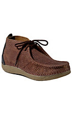 Tony Lama® 3R™ Mens Distressed Rust Brown Bullhide Casual Lace Up Shoes