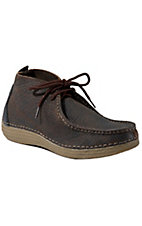 Tony Lama® 3R™ Mens Distressed Walnut Brown Bullhide Casual Lace Up Shoes