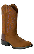 Tony Lama® 3R™ Rojo Brown Bridle Stockman Round Toe Western Boots