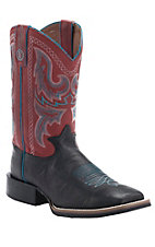 Tony Lama 3R Series Men's Blackstone w/ Chili Westcott Top Double Welt Square Toe Boots