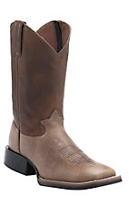 Tony Lama 3R Series Men's Stone Blaze w/ Tobac Westcott Top Double Welt Square Toe Boots