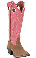 Tony Lama® Ladies 3R Buckaroo Tall Sorrel Bridel w/RoseTop Boots