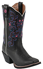 Tony Lama® 3R Series™ Ladies Black Chaparral Square Toe Double Sttiched Western Boots