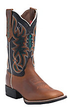 Tony Lama� 3R? Women's Tan with Black Austin Top Square Toe Western Boot