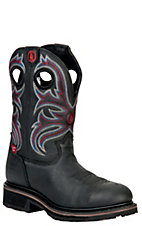 Tony Lama 3R Series Men's Black Grizzly Waterproof  Steel Toe Western Work Boots