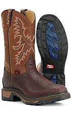 Tony Lama Mens TLX Western Work Boots - Chocolate