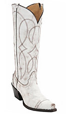 Tony Lama Vaquero Women's Antique White Destroyed Snip Toe Western Boots