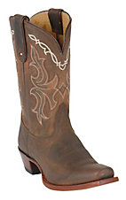 Tony Lama Vaquero Ladies Sorrel Taos Brown Punchy Square Toe Western Boot