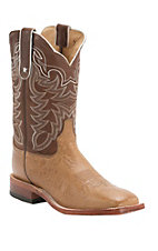 Tony Lama Men's Vintage Tan Smooth Ostrich Exotic Square Toe Western Boots