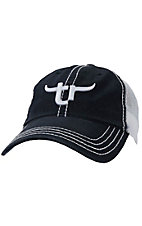 Team Roper® Men's Navy w/ White Embroidered Logo Mesh Back Cap