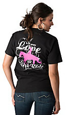 Horses Unlimited® Women's Black It Was Love At First Ride Short Sleeve T-Shirt