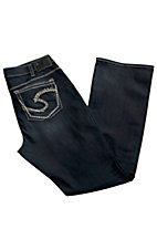 Silver Jeans® Ladies Stonewash Tuesday Mid Rise Slim Boot Cut Jean- Plus Size 33in Inseam