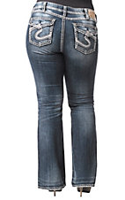 Silver Jeans® Women's Pioneer Flap Pocket Mid Rise Bootcut Jeans - Plus Sizes