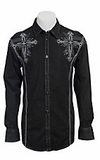 Roar® Men's Black Captivate Embroidered Long Sleeve Western Shirt