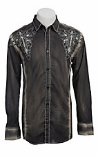 Roar® Men's Grey Exhilerate Embroidered Long Sleeve Western Shirt