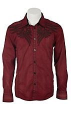 Roar Men's Brick Arrow Embroidered Long Sleeve Western Shirt