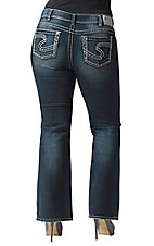 Silver Jeans® Women's Dark Suki Mid Rise Bootcut Jeans- Plus Sizes