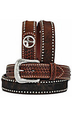 Ranger Belt Company Dark Brindle Hair with Nailheads