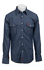 Wrangler Mens Flame Resistant Denim Workshirt - Big
