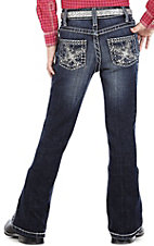 Rock 47™ by Wrangler® Girls' Black & Silver Fleur De Lis Jean - Sizes 7-14 Slim Fit