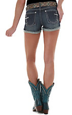 Rock 47™ by Wrangler® Ladies Cross Ultra Low Rise Open Cuff Denim Short