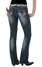 Rock 47™ by Wrangler® Women's Mistletoe Kiss Ultra Low Rise Boot Cut Jeans