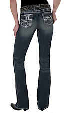 Rock 47™ by Wrangler® Women's Journey Star Embroidered Low Rise Jeans