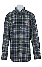 Cinch Men's Flame Resistant Plaid Workshirt WLW3001017