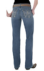 Wrangler® Q-Baby™ Ladies Mid Rise Angle Wings Stretch Jean