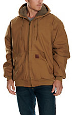 Cowboy Workwear Tan Brown Quilt Lined Hooded Coat WSHOODFT