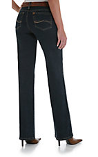 Wrangler® Aura™ Blue/Black Indigo Regular Rise Ladies Jean