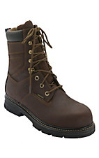 Wolverine Dark Brown 8in Nolan Slip Resistant Lacer Composite Toe Work Boot