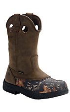Wolverine® Swampmonster™ Mens Camo Waterproof  Pull On Wellington Steel Toe Work Boot