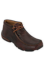Twisted X Men's Cognac Driving Moccasin Lace Up Casual Shoes