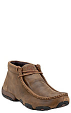 Twisted X Men's Bomber Brown Driving Moccasin Lace Up Casual Shoes