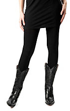 Angie® Women's Black Fleece Lined Leggings