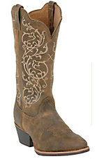 Twisted X Ladies Brown Bomber with Ivory Embroidery  Western Boots