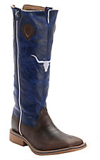 Twisted X® Youth Copper w/Blue Stovepipe Steer Tall Top Double Welt Square Toe Western Boots