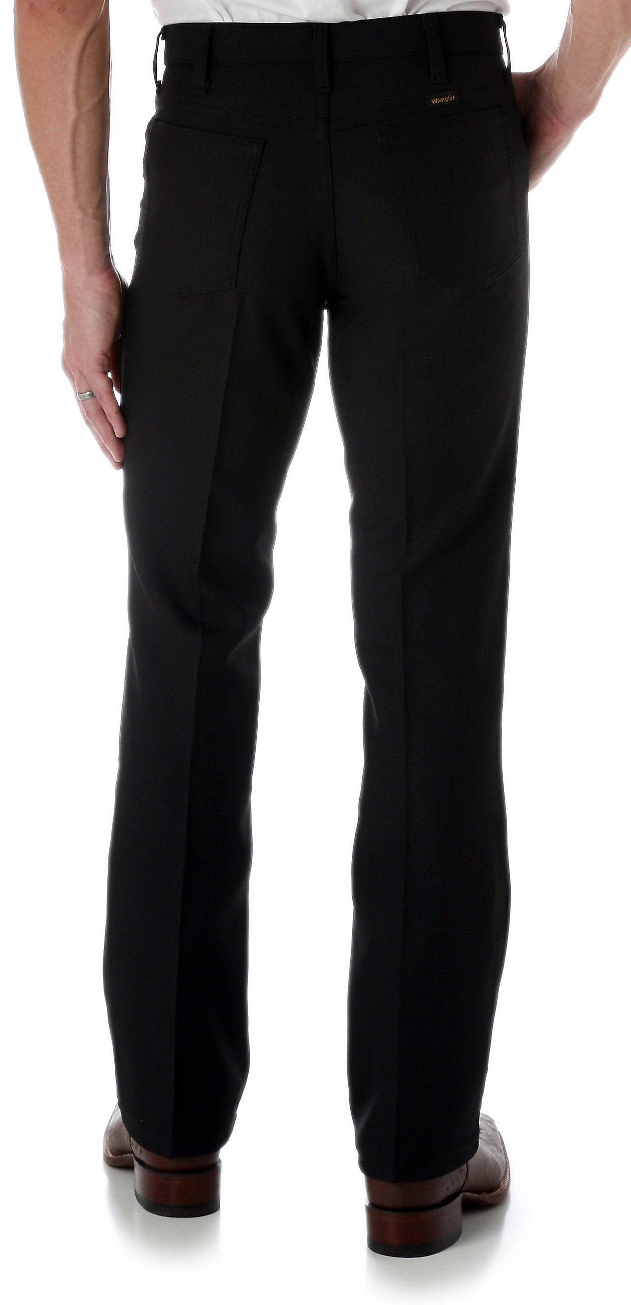 Wrangler Wrancher Black Dress Pants | Cavender's