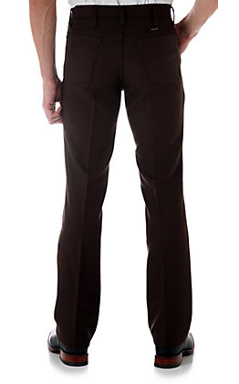 Wrangler Wrancher Men's Brown Dress Pants