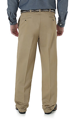 Wrangler Riata Men's Goldenrod Flat Front Casual Relaxed Fit Pants